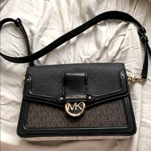 Michael Kors Jessie Medium Two Tone Logo Shoulder